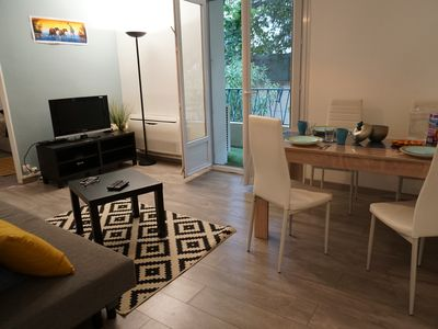 Photo for T3 Design freshly renovated spacious and well located seen on garden in Montpellier