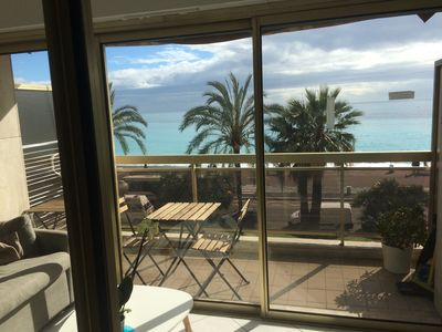 Photo for Lovely renovated seafront flat on the Promenade des Anglais 5 min Hotel Negresco