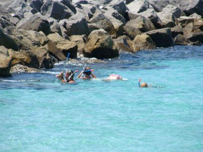 Guests enjoying day of Snorkeling at the Destin Jetties.  Lots of Fish to See!!!