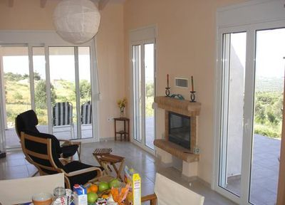 Open plan area with panoramic views