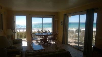 Ocean & beach views from all living areas. Private side balcony.