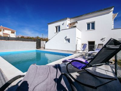 Photo for Spacious detached house with private swimming pool , sea view covered terrace