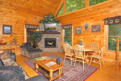 All the amenities of home in your own log cabin in the woods.