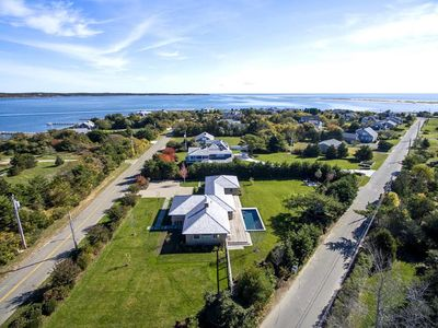 Photo for Light filled contemporay in South Beach area of Edgartown with heated pool.