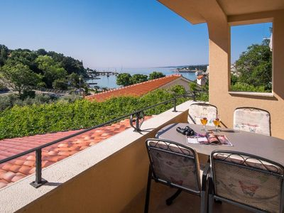 Photo for Attractive modern apartment - private balcony, private parking, beautiful sea view, barbecue area