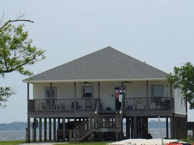 "Photo for ""The Perfect Getaway"" w/ boat dock & water access in front & in back of house!"