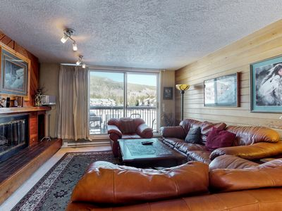 Photo for NEW LISTING! Lakefront condo w/balcony, shared pool/hot tub/sauna, bus to slopes