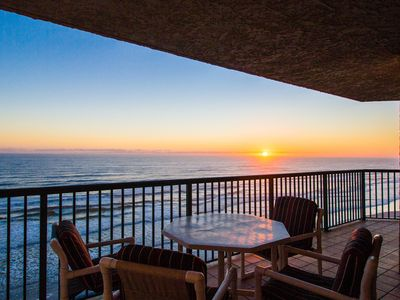 Photo for Oceanfront condo w/ shared pools, hot tubs, & beach access - snowbirds welcome!