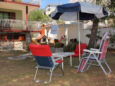 Photo for Two bedroom apartment with terrace and sea view Zavala, Hvar (A-594-a)