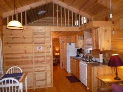 Kids just love the 'loft'...a cabin adventure is just waiting for you!!