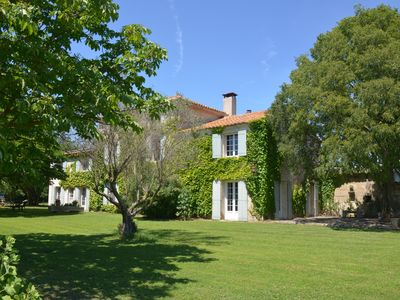Photo for Mas provençal with swimming pool secured close to the Baux de Provence