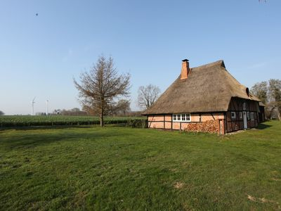 Photo for Thatched cottage on the edge of the field with a magnificent view