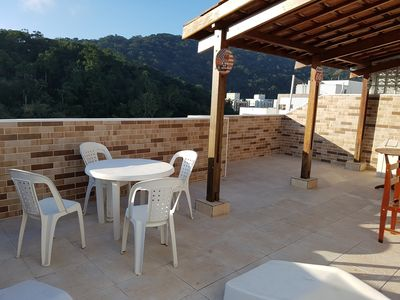 Photo for WONDERFUL COVERAGE IN GUARUJÁ - PITANGUEIRAS BEACH - 150 MTS FROM THE BEACH