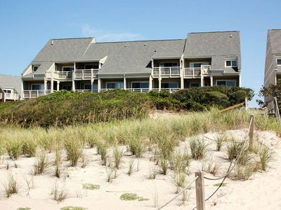 Photo for Water's Edge: 3 Bed/2 Bath Condo with Private Oceanfront Balcony and Views of Lighthouse
