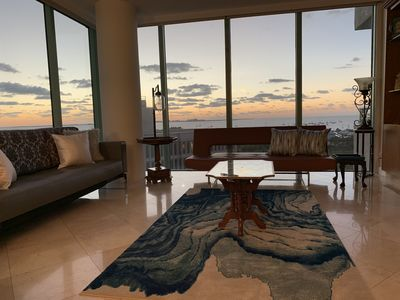 Photo for BAYFRONT Luxury Ritz Residences Condo with amazing ocean views, free parking