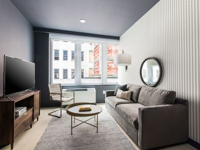 Photo for Sonder | Wall Street | Calming 1BR + Lounge