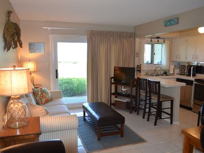 Photo for Oceans 109-Gulf Front 1BR/1BA unit-WiFi-Pool-Tennis Courts!!
