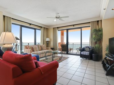 Photo for 701W - Comfortable furnishings in a charming 3 BR Gulf Front condo
