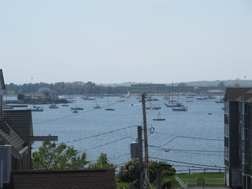 Roof-deck photo-Newport Harbor, Brenton Cove, Ida Lewis Yacht Club & Fort Adams