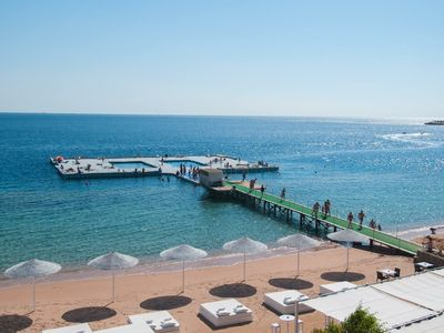 Photo for Apartment in resort on the beach Sharm el sheik dominates coral bay