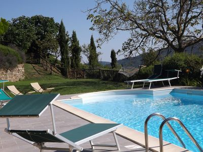 Photo for Spacious Secluded Tuscan Villa Near Cortona, with its own pool and private road.