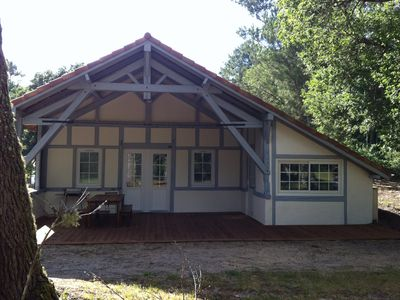 Photo for Landes traditional house in the heart of the forest Near beaches