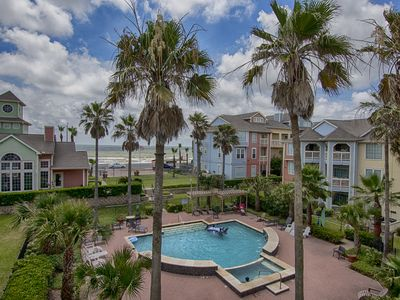 Photo for Galveston meets Key West in this Beach Condo...Steps to Galveston Beach and Bay!