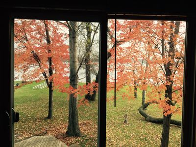 View from Master Bedroom in the Fall.