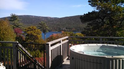 Enjoy Views of Somes Sound and Acadia National Park Mountains from Hot Tub