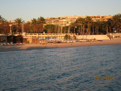 Photo for Located Bd de la croisette close to palm beach and bijou plage, very quiet area