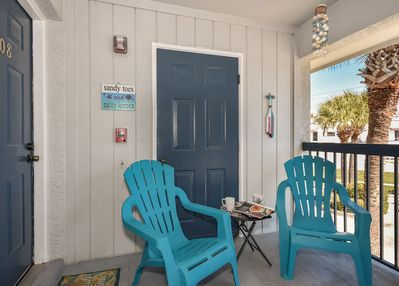 One of the only units with a patio to enjoy the Florida sunshine.