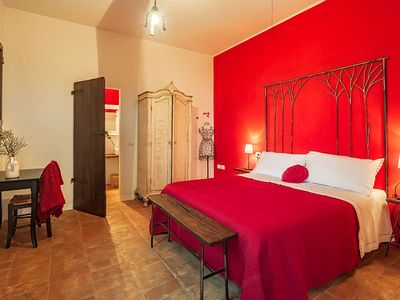 "Photo for L'A Ceccoli Farmhouse ""Red Room"""