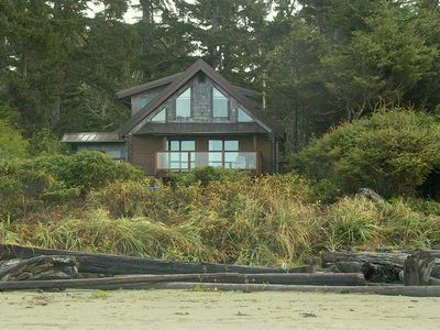 View of The Sea Lion from Chesterman Beach. Showing side porch entry mud room.