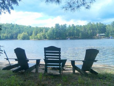 Photo for NEW LISTING! Dog-friendly, lakefront house w/ dock, sandy beach, screened porch