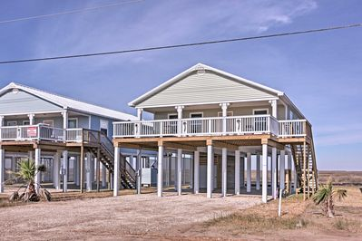 The property features 3 bedrooms, 3 bathrooms, and room for 8 guests!
