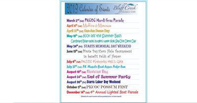 Lake Events for 2019