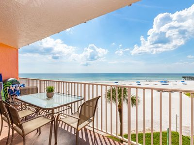 Photo for Direct beachfront 3 bedroom corner unit- GREAT POOL AND HOT TUB !!!   Sleeps 6