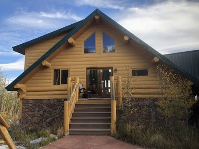 Photo for Beautiful Mountain Chalet Retreat! Stunning views set on 108 private acreage.