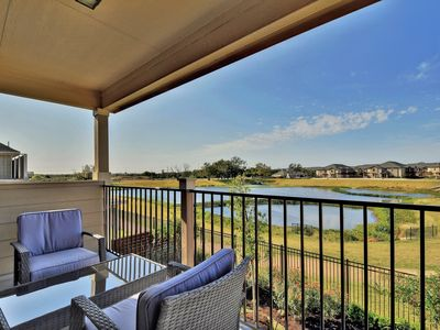 Photo for New home, water view, across the street from railway station to Austin downtown