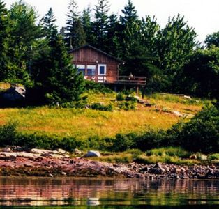 Photo for Private Waterfront Redwood Cottage on Harbor Near Acadia (Schoodic Point)