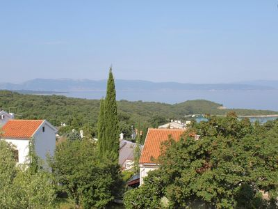 Photo for Studio flat with terrace and sea view Njivice (Krk)