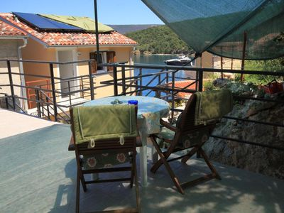 Photo for One bedroom apartment with terrace and sea view Valun, Cres (A-8086-d)