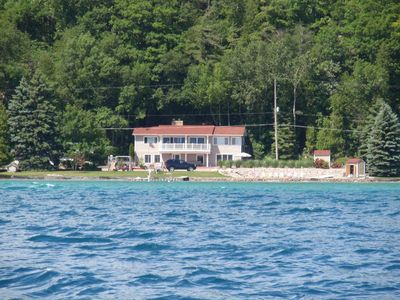 Photo for PRIVATE BEACH and LAKE Frontage on Crystal Lake - Crystal Lake Getaway