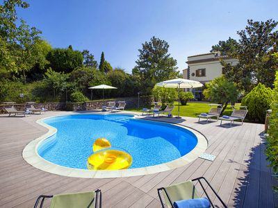 Photo for Villa Il Pino with private pool, garden, terraces, parking. Ideal for families