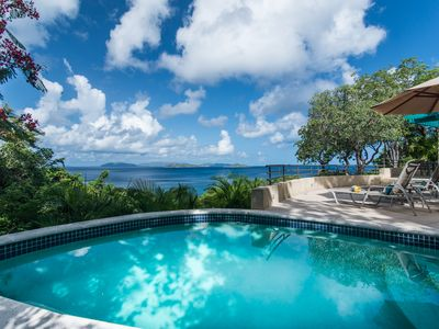 Photo for Boulder Crest Villa, 3-Bedrooms, Walk to Stunning Beaches, Panoramic Ocean Views
