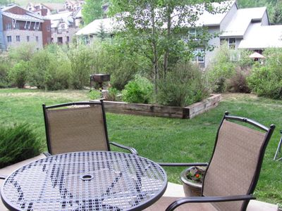 Photo for UPDATED! WALK-OUT PATIO ADJ TO RIVER TRL, #112,  HOT TUB/POOL, VIEWS!  A JOY!