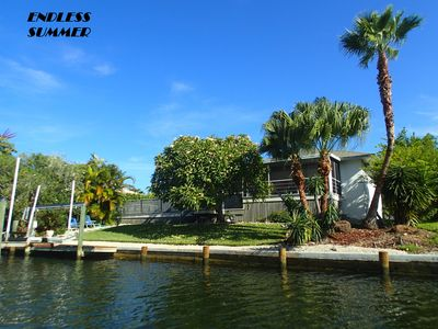 Photo for Waterfront-dock-Private pool-Close to beach-3BR-Wifi-Satellite TV-South Exposure