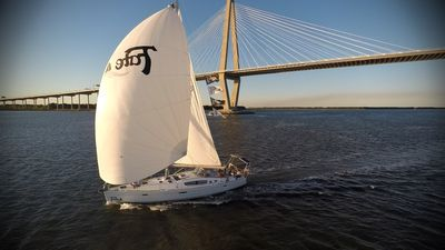 Sailing by the Ravenel Bridge