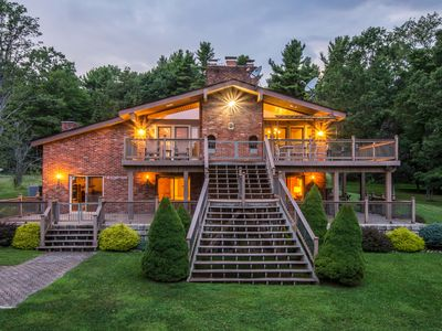 Photo for Absolutely Shore: Level Lakefront, Private Dock, Hot Tub, Great Outdoor Space