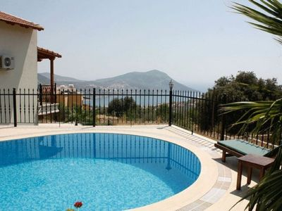 Photo for 3 Bedroom Villa With Private Pool overlooking Kalkan Bay